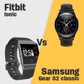 Compare Fitbit Ionic Vs Samsung Gear S2 Classic Specs