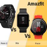 Huami Amazfit Pace 2 (Stratos) vs Amazfit Bip vs Amazfit Pace