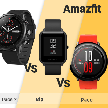 Amazfit Pace 2 (Stratos) vs Amazfit Bip vs Amazfit Pace ...