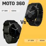 Motorola Moto 360 (2nd gen) 42mm vs 46mm