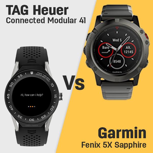 Tag Heuer Connected Modular 41 Vs Garmin Fenix 5x Sapphire Edition