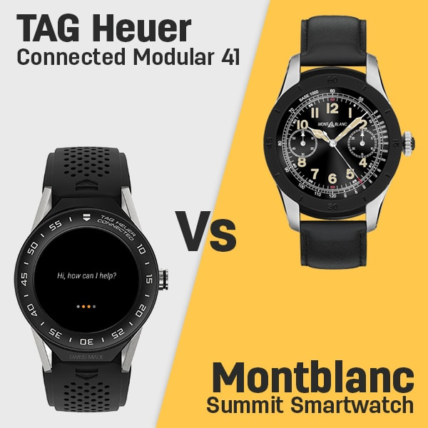 TAG Heuer Connected Modular 41 vs Montblanc Summit ...