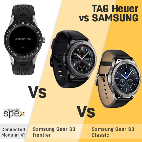 TAG Heuer Connected Modular 41 vs Gear S3 Frontier vs S3 ...