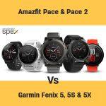 Huami Amazfit Pace vs Pace 2 (Stratos) vs Garmin Fenix 5 vs 5S vs 5X